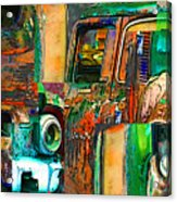Old Trucks Acrylic Print