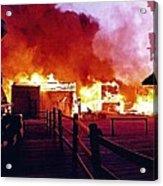 Old Tucson Arizona In Flames 1995  Acrylic Print