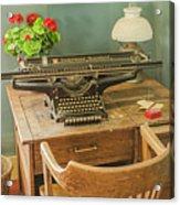 Old Underwood Typewriter Acrylic Print