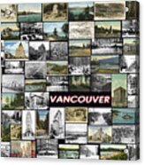 Old Vancouver Collage Acrylic Print