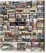 Old Vienna Collage Acrylic Print