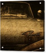 Old Vintage Plymouth Car Hood Acrylic Print