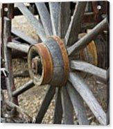 Old Waagon Wheel Acrylic Print
