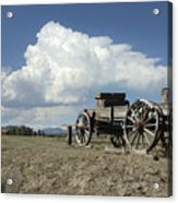 Old Wagon Out West Acrylic Print