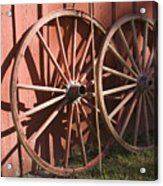 Old Wagon Wheels Acrylic Print