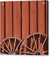 Old Wagon Wheels IIi Acrylic Print
