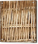 Old Wall Made From Bamboo Slats Acrylic Print