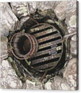 Old Well Abstract Acrylic Print by Steve Ohlsen