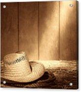Old West Farmer Hat Acrylic Print