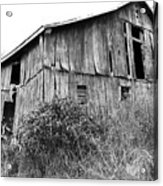 Old West Virginia Barn Black And White Acrylic Print
