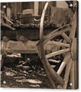 Old Western Wagon # 4 Acrylic Print
