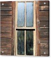 Old Western Window Acrylic Print