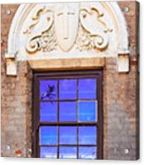 Old Window Mission San Buenaventura Acrylic Print