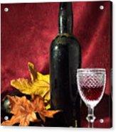 Old Wine Bottle Acrylic Print by Carlos Caetano