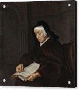 Old Woman Meditating, Gabriel Metsu, C. 1661 - C. 1663 Acrylic Print