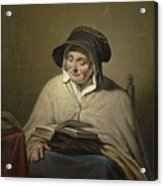 Old Woman Reading, Cornelis Kruseman, 1820 - 1833 Acrylic Print