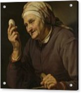 Old Woman Selling Eggs, 1632 Acrylic Print