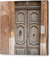 Old Wood Door - France Acrylic Print