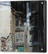 Old Wood Door In A Wall Acrylic Print