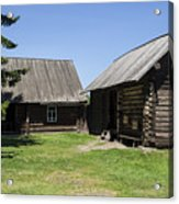 Old Wood House,russia Acrylic Print by Atul Daimari
