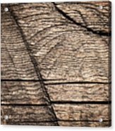 Old Wooden Board With Notches By Sawing Acrylic Print