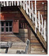 Old Wooden Cabin Log Detail Acrylic Print