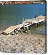 Old Wooden Dock Acrylic Print
