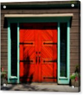 Old Wooden Doors Acrylic Print
