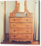 Old Wooden Dresser Acrylic Print