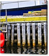 Old Wooden Pier In Newfoundland Acrylic Print
