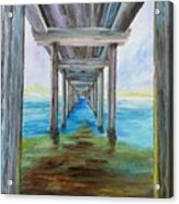 Old Wooden Pier Acrylic Print