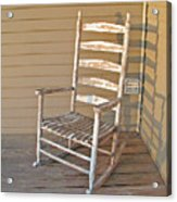Old  Wooden  Rocking  Chair Acrylic Print