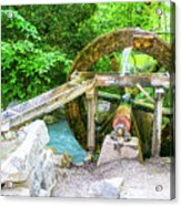 Old Wooden Water Wheel  Acrylic Print