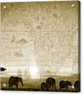 Old World Africa Antique Sunset Acrylic Print