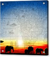 Old World Africa Cool Sunset Acrylic Print