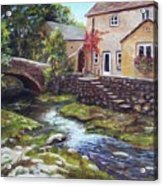 Old World Cottage Acrylic Print
