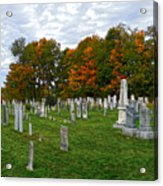 Old Yard Cemetery Stowe Vermont Acrylic Print