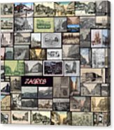 Old Zagreb Collage Acrylic Print by Janos Kovac