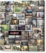 Old Zagreb Collage Acrylic Print by Janos Kovac