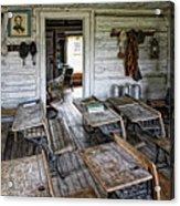 Oldest School House C. 1863 - Montana Territory Acrylic Print by Daniel Hagerman