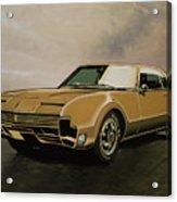 Oldsmobile Toronado 1965 Painting Acrylic Print