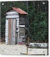 Oldtime Outhouse - Digital Art Acrylic Print