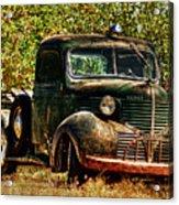 Ole Dodge And Apples Acrylic Print