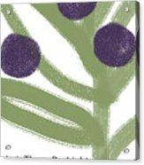 Olive Branch Hanukkah Card- Art By Linda Woods Acrylic Print