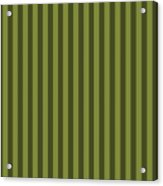 Olive Green Striped Pattern Design Acrylic Print