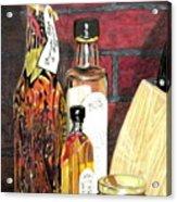 Olive Oil Bottles Acrylic Print