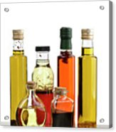 Olive Oil,salad Dressing And Vinegar Acrylic Print