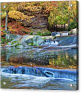 Olmsted Waterfalls Acrylic Print