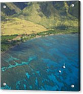 Olowalu Aerial Acrylic Print