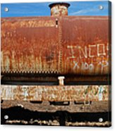 Ols Rusty Container Train Wagon Acrylic Print